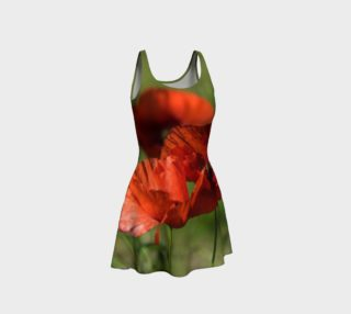 Utterly Italy Red Poppies Flare Dress preview
