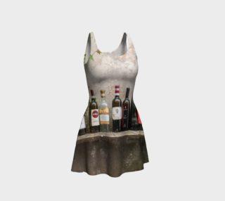 Utterly Italy Benevento Wine Bottles Flare Dress preview