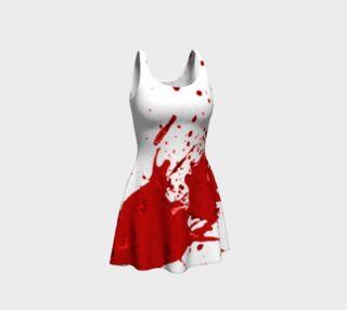 Blood Splatter First Cosplay Halloween Flare Dress preview