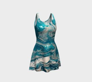 Turquoise Abstract Flare Dress preview