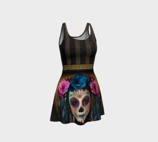 Sugar Skull Flare Dress preview