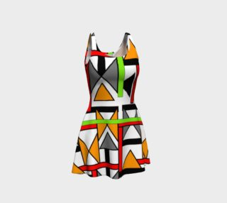 Geometric Bold Colorful Patterned Fashion Dress preview