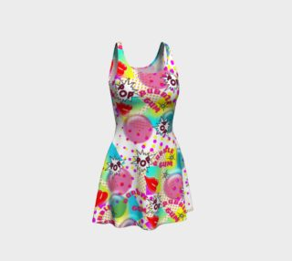 Fun Funky Bubblegum PopArt  Summer Dress preview