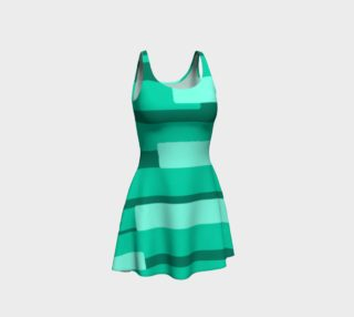 Teal Ocean Flare Dress preview