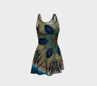 Peacock Power Flare Dress  3 preview