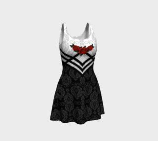Bondage Rose Gothic Damask Summer Dress preview