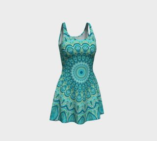 Turquoise Treat Flare Dress preview