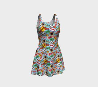 Comic Balloon Flare Dress preview