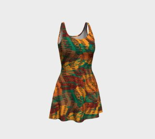 Abstract Animal Stripes Flare Dress preview