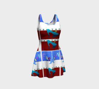 Fashion Central / Paris Poster Flare Dress preview