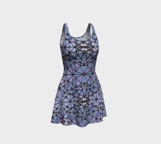 Purple and Blue Kaleidoscope Flare Dress preview