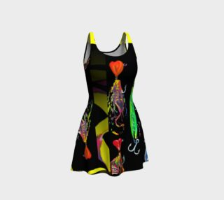 The New a-Lure-ing You 3-d Optical-Print Flare Dress preview