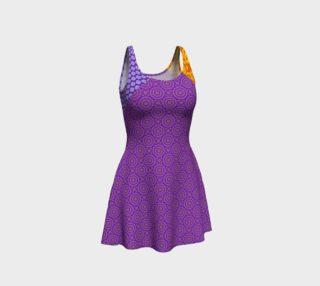 Orange and Purple Clash Flare Dress preview
