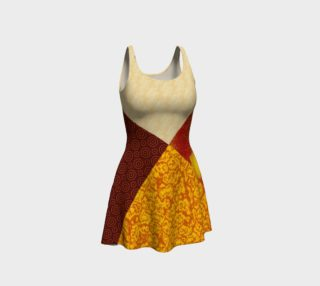 Patched in Fire Flare Dress preview