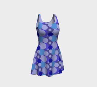 Blue Bubble Pop Flare Dress preview