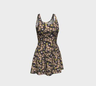 Rosy Garland Flare Dress preview