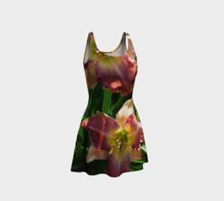 daylilies flare dress preview