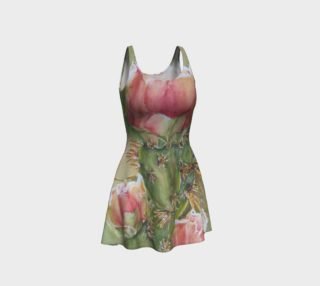 Peach Cactus Flare Dress preview