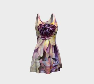Dahlia Flower Flare Dress preview