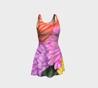 Gerbera Flowers Flare Dress preview