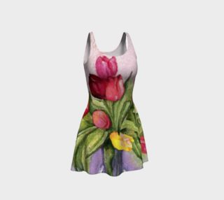 Tulip Bouquet 2 Flare Dress preview