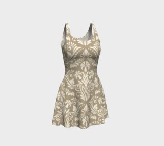 Aperçu de Tan Damask Dress