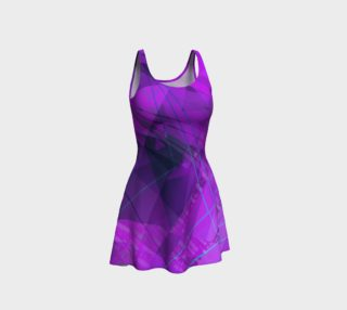 Purple Doodles Flared Dress preview