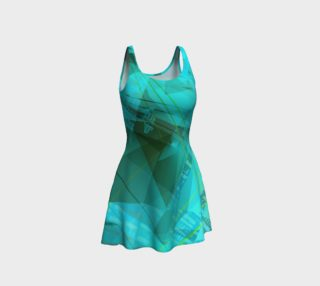 Teal Doodles Fitted Dress preview