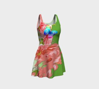 Pink Flowers 3D Flare Dress   106-23 preview