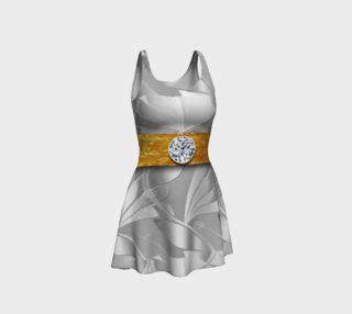 SilverGold Illusion Flare Dress   106-7 preview