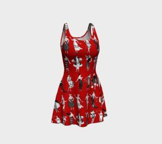 Aperçu de La Vie Parisienne Rouge - Flare Dress