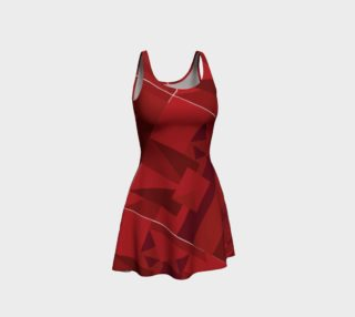 Dust Red Pattern Dress preview