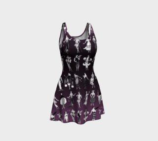 Aperçu de La Vie Parisienne Aubergine - Flare Dress