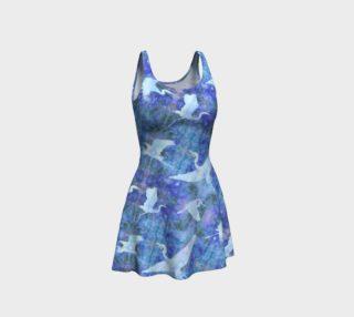 Aperçu de Starry Cranes - Flare Dress