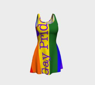 Gay Pride Love Flared Dress preview