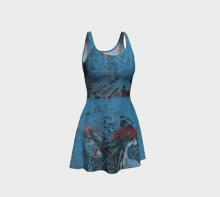 Blue Print Flare Dress preview
