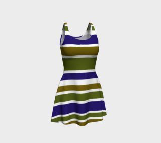 Olive Green and Blue Big Stripes  preview