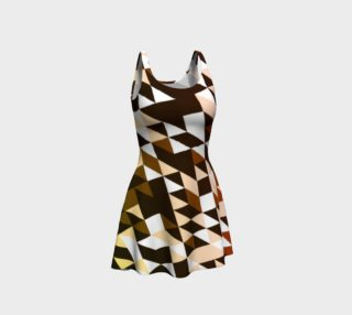Brown Black Zigzag Flare Dress  preview