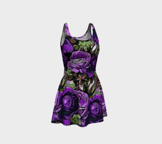 Purple Roses Flare Dress  preview