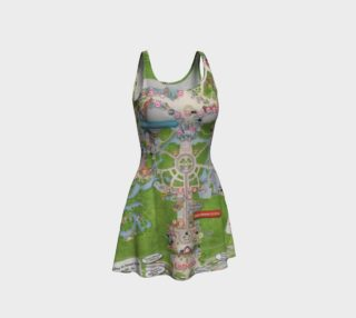 Magic Kingdom Map Disney Flared Dress 000756 preview