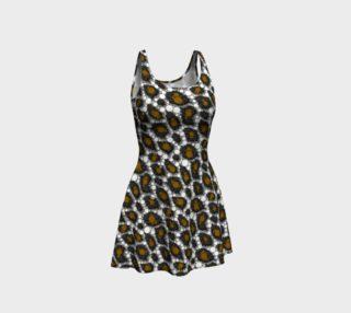 Brown Silver Cheetah Flare Dress  preview