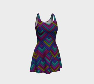 Aztec Pattern Flare Dress  preview