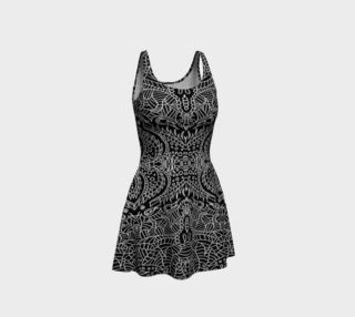 Aperçu de Black and White Hand Drawn Damask Dress