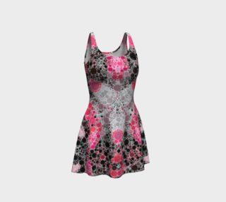 Powder Pink Grey Black Bubblie Flare Dress  preview