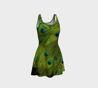Aperçu de Peacock Feather Flared Dress