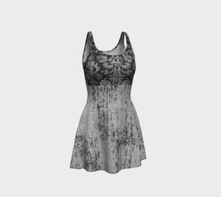 Grunge Grey Damask Dress by Tabz Jones preview