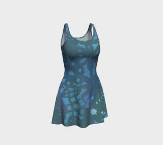Blue and Teal Stencil Bodycon Dress preview