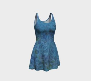 Blue and Teal Flowered Bodycon Dress preview