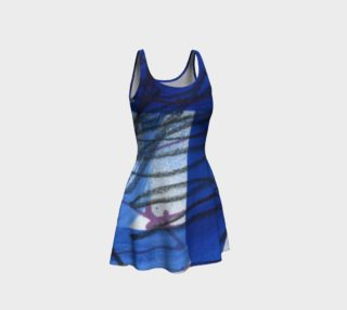 Blue, Black and White Scribble Bodycon Dress preview