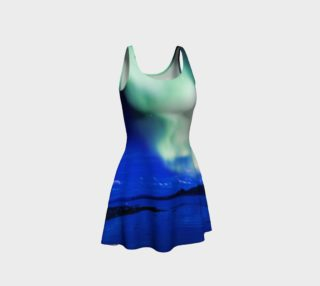 Electric Blue Northern Lights Flare Dress #3 preview